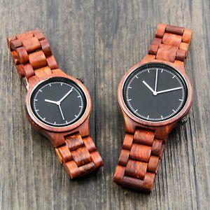 【送料無料】腕時計 カスタムパーソナライズcustom fathers day gift engraved wooden watch personalized wood watch wedding