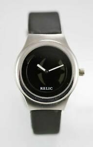 【送料無料】腕時計 ビッグチックステンレススチールシルバーブラックラバーレジスト