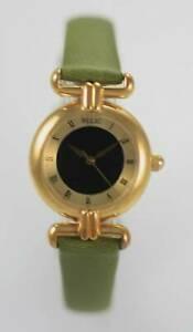 【送料無料】腕時計 レディースステンレススチールクオーツゴールドグリーンバッテリーウォッチrelic womens mood stainless gold steel green leather battery quartz watch