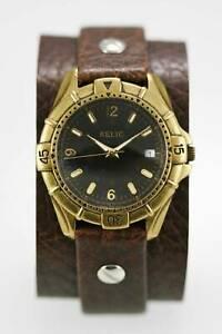 【送料無料】腕時計 メンズウォッチブラウンブラッククォーツステンレススチールゴールドバッテリ