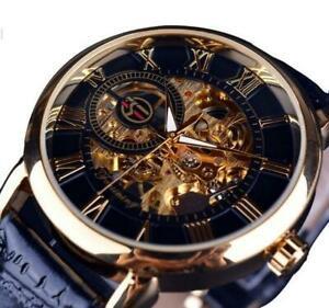 【送料無料】腕時計 メンズブランドヘレンロゴデザインブラックゴールドケース