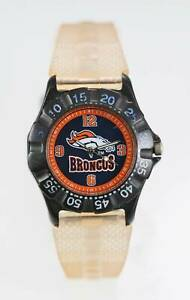 【送料無料】腕時計 デンバーブロンコスブラックベージュプラスチッククォーツ
