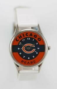 【送料無料】腕時計 シカゴベアーズロゴステンレスシルバーホワイトレザークォーツrelic watch womens chicago bears logo stainless silver white leather quartz