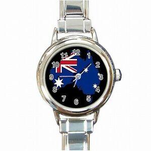 【送料無料】腕時計 オーストラリアオーストラリアレディースブレスレットウォッチaustralia country flag australian pride color womens bracelet watch