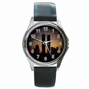 【送料無料】腕時計 ツインタワーワールドトレードセンターニューヨークメモリアルレザーtwin towers world trade center ny 911 memorial leather watch
