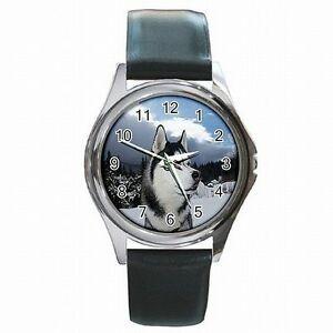 【送料無料】腕時計 シベリアンハスキーアラスカスレッドアクセサリーsiberian husky alaskan sled dog accessory leather watch