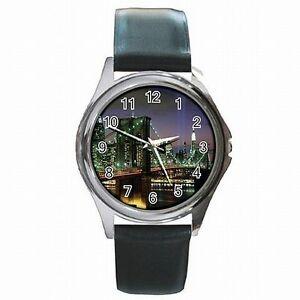 【送料無料】腕時計 ツインタワーズニューヨークtwin towers york 911 memorial picture leather watch