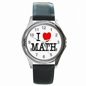 【送料無料】腕時計 レザーi love math algebra geometry calculus teacher leather watch