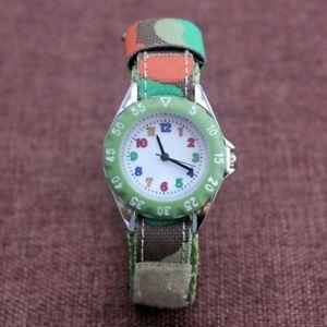 【送料無料】腕時計 ファッションナイロンキャンバスクォーツカムフラージュクールchildren boys girls fashion nylon canvas quartz watches cool camouflage casua