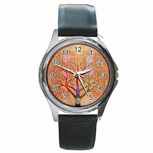 人気の春夏 【送料無料】腕時計 kabballah tree of life judaism leather watch, モールジャパン 5f583c87