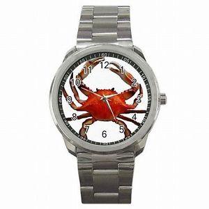 【送料無料】腕時計 アラスカキングクラブステンレススチールキャッチウォッチking crab alaska boat fishing deadliest catch stainless steel watch