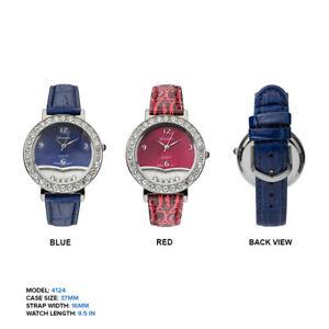 【お気にいる】 【送料無料 ladies】腕時計 ジュネーブレディースフローティング geneva ladies floating rhinestones leather rhinestones floating wrist watch 37mm, modaMania:db9a584a --- claudiocuoco.com.br