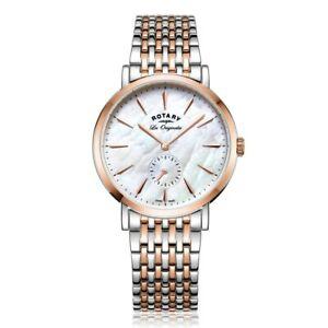【送料無料】腕時計 ロータリートーンブレスレットポンドrotary ladies two tone bracelet watch  lb9019141
