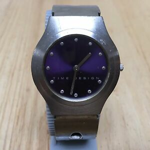 【送料無料】腕時計 ビンテージスリムシルバーアナログクォーツバッテリーvintage time design ultra thin slim silver analog quartz watch hours~ battery