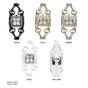 【送料無料】腕時計 レディーススクエアラインストーンチェーンファッションウォッチ ladies square rhinestone link chain fashion watch 23mm