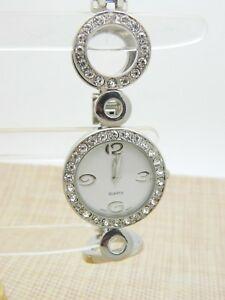 【送料無料】腕時計 シルバーストーンラインストーンクリアサークルファッションクォーツsilver tone clear rhinestone circle fashion watch quartz 725