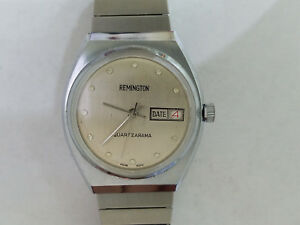 【送料無料】腕時計 アップremington quartzarama date wind up wristwatch 7805