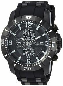 【送料無料】腕時計 メンズプロダイバークロノグラフブラックラバーウォッチ