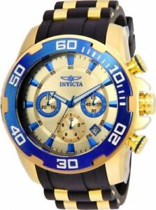 【送料無料】腕時計 ゲントスチールシリコーンストラップクロノウォッチ22343 invicta 50mm gents yellow steel amp; silicone strap chrono watch