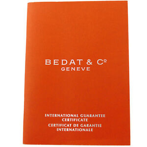 【送料無料】腕時計 ジュネーブbedat amp; co geneve international guarantee certificate booklet