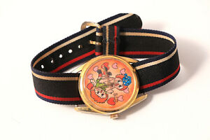 【送料無料】腕時計 アンアンディタイムリーテーマスイスrare raggedy ann andy wind up watch 1973 by timely risque adulttheme swiss made