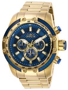 【送料無料】腕時計 メンズスピードウェイイエローゴールドブレスレットクロノウォッチinvicta 28659 mens speedway yellow gold bracelet chrono watch