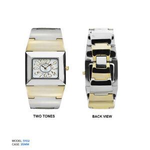 【送料無料】腕時計 ジュネーブレディースブレスレット geneva ladies square large numbers bracelet wrist watch 35mm