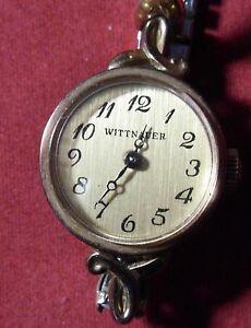 【送料無料】腕時計 レディースビンテージウィットkgpladies vintage wittnauer wind up watch working 10k gp top