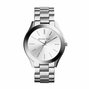 【送料無料】腕時計 ミハエルシルバーストーンウォッチmichael kors womens runway silvertone watch mk3178