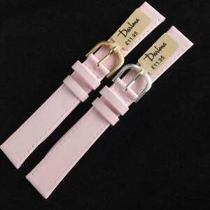 【送料無料】腕時計 カーフレザーストラップミリクラシックピンクゴールドシルバーウォッチ16mm darlena classic 1201 calf leather watch strap pink choose gold or silver