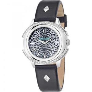 【送料無料】腕時計 スワロフスキーラトorologio donna just cavalli decor r7251216505 pelle nero swarovski maculato