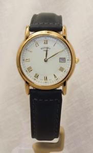 【送料無料】腕時計 ロータリーステンレススチールレザーストラップ¥rotary gs0071301 gold plated stainless steel leather strap watch date rrp110