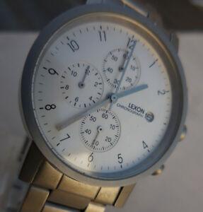 【送料無料】腕時計 クロノグラフマネージャマルチancien chronographe montre lexonlatitudemanager multicadrans mixte 1980