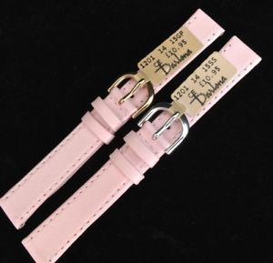 【送料無料】腕時計 クラシックソフトカーフレザーストラップピンクゴールドシルバー14mm darlena 1201 pink classic soft calf leather watch strap gold or silver