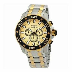 【送料無料】腕時計 メンズプロダイバークロノグラフトーンブレスレット26080 invicta mens pro diver chronograph two tone bracelet watch