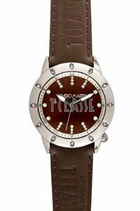 【送料無料】腕時計 プリマクラッセラウンドブラウンレザークリスタルウォッチprima classe womens pcd 942suu round brown leather crystal watch