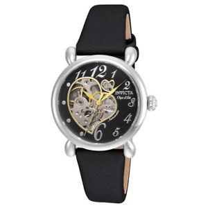 【送料無料】腕時計 メンズオブジェアートセミスケルトンブラックサテンストラップ