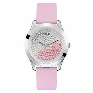 【送料無料】腕時計 ピンククラッシュストラップguess w1223l1 womens crush pink strap wristwatch