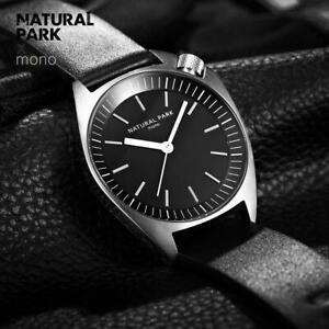 【送料無料】腕時計 トップブランドnatural park leather men watch 2018 top brand luxury famous wristwatch male cloc