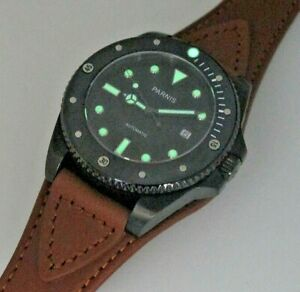 【送料無料】腕時計 セラミックベゼルサファイアレンズオールステンレスボックスparnis specialceramic bezelmiyota autosapphire lens45mmall stainlessboxed
