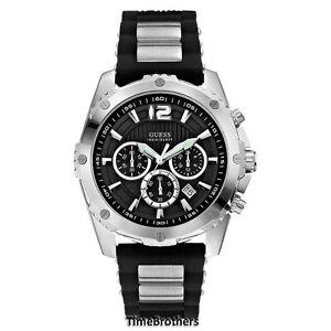 【送料無料】腕時計 クロノグラフブラックシリコンg
