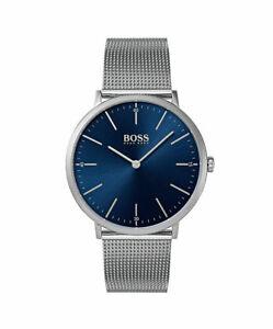 【送料無料】腕時計 ボスヒューゴボスメンズシルバーステンレススチールメッシュメタルウォッチboss hugo boss mens silver tone mesh metal stainless steel watch 1513541 nwt