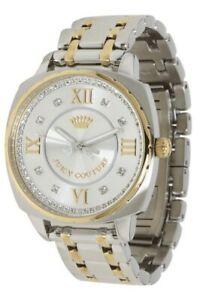 【送料無料】腕時計 ドルジューシークチュールレディーストーンブレスレットボースワロフスキーウォッチ295 juicy couture ladies beau swarovski twotone bracelet watch 1900955 nwt