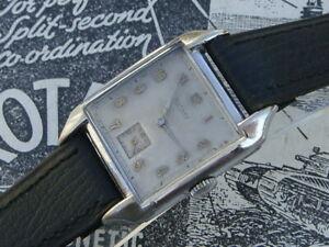 【送料無料】腕時計 ロータリーアールデコクラシックメンズスチールウォッチコレクタrotary art deco classic 40s ww2 era large mens ssteel watch collector condition