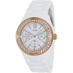 【送料無料】腕時計 キャンディローズゴールドホワイトブレスレットスワロフスキーレディウォッチ guess feminine candy rose gold white bracelet swarovski lady watch u0062l6