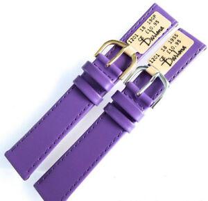 【送料無料】腕時計 クラシックソフトカーフレザーストラップ18mm darlena 1201 purple classic soft calf leather watch strap gold or silver