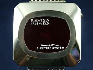 【送料無料】腕時計 ビンテージシステムジャンプスイスデジタルウォッチvintage nos ravisa electric system jump hour digital watch 1970s swiss led