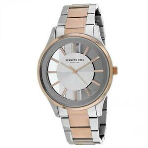 【送料無料】腕時計 ケネスメンズクラシックトーンスチールケースkenneth cole mens classic 44mm two tone steel case quartz watch kc50500005