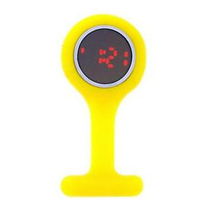 【送料無料】腕時計 デジタルゴムウォッチboxx led digital yellow rubber infection control nurses fob watch