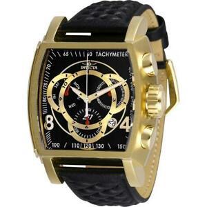 【送料無料】腕時計 ラリーメンズブラックゴールドトーンクロノグラフウォッチ